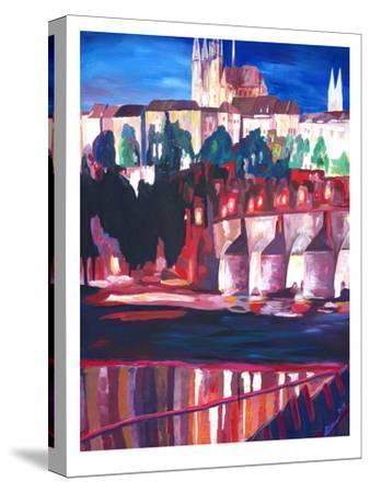 Prague - Hradschin With Charles Bridge-M Bleichner-Stretched Canvas Print