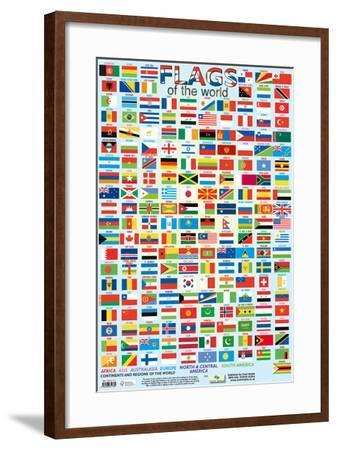 Flags Of The World--Framed Poster