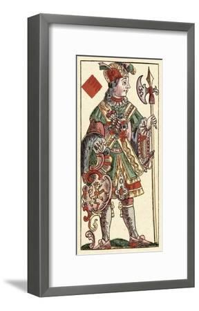 Knave of Diamonds (Bauern Hochzeit Deck)-Andreas Benedictus Gobl-Framed Art Print