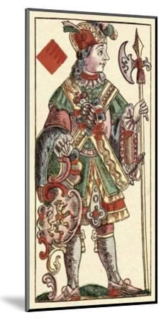 Knave of Diamonds (Bauern Hochzeit Deck)-Andreas Benedictus Gobl-Mounted Art Print