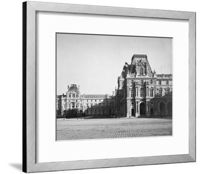 Paris, 1859 - Mollien Pavilion, the Louvre-Gustave Le Gray-Framed Art Print