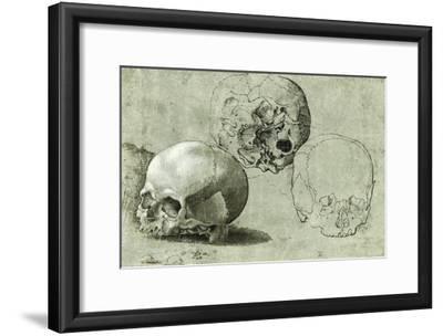 Study of Three Skulls--Framed Art Print
