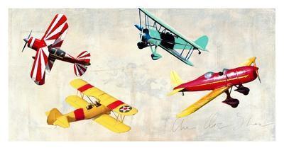 The air show-Teo Rizzardi-Framed Art Print