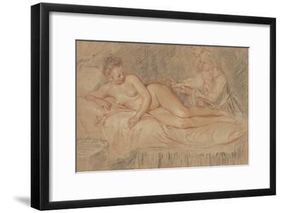 The Remedy-Jean-Antoine Watteau-Framed Art Print