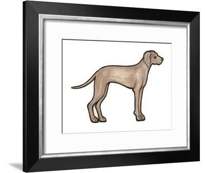 Weimeraner-Sally Pattrick-Framed Art Print