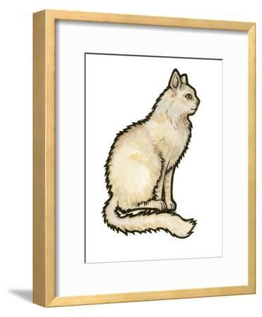 Cat 1-Sally Pattrick-Framed Art Print