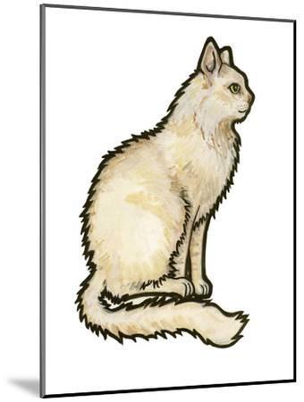Cat 1-Sally Pattrick-Mounted Art Print