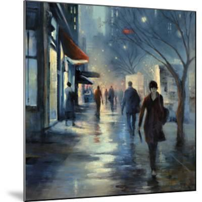 Broadway at Dusk- Jessen-Mounted Giclee Print