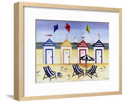 Beach Houses-Katharine Gracey-Framed Art Print