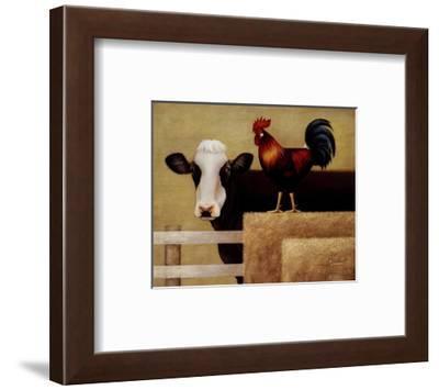Barnyard Cow-Lowell Herrero-Framed Art Print