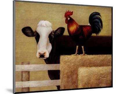 Barnyard Cow-Lowell Herrero-Mounted Art Print