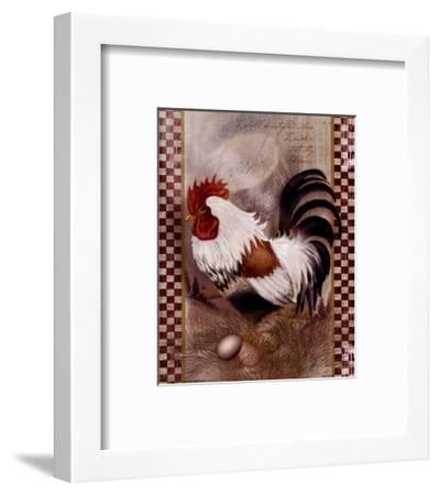 Coat Of Many Colors Rooster-Alma Lee-Framed Art Print