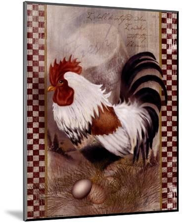 Coat Of Many Colors Rooster-Alma Lee-Mounted Art Print