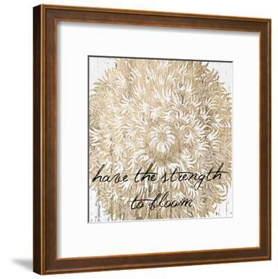Metallic Floral Quote II-Jarman Fagalde-Framed Art Print