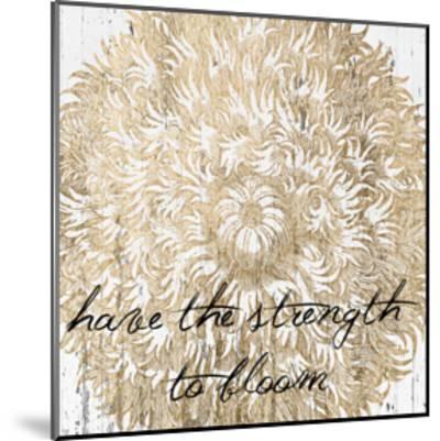Metallic Floral Quote II-Jarman Fagalde-Mounted Art Print
