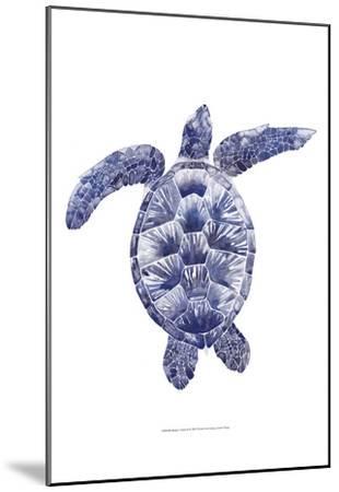 Marine Turtle II-Grace Popp-Mounted Art Print