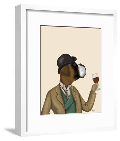 Boxer Wine Snob-Fab Funky-Framed Art Print