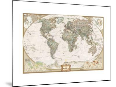 World Political Map, Executive Style--Mounted Art Print