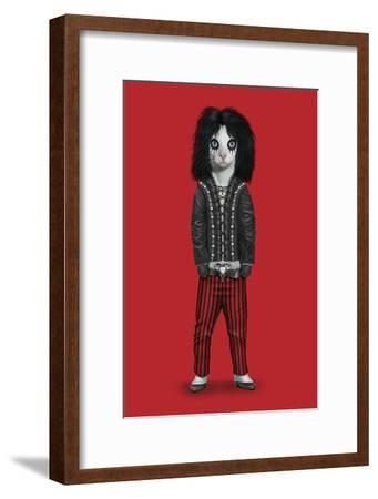 Shock Rock (Pets Rock)-Takkoda-Framed Art Print