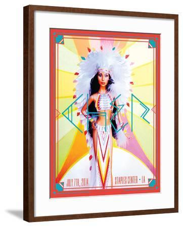 Cher 2014-Kii Arens-Framed Art Print