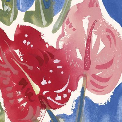 Flamingo Flower I-Alan Halliday-Framed Giclee Print