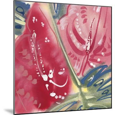 Flamingo Flower II-Alan Halliday-Mounted Giclee Print