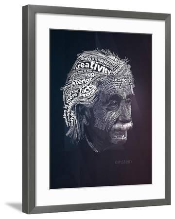 Einstein Typography Quotes-Lynx Art Collection-Framed Art Print