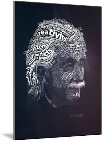 Einstein Typography Quotes-Lynx Art Collection-Mounted Art Print