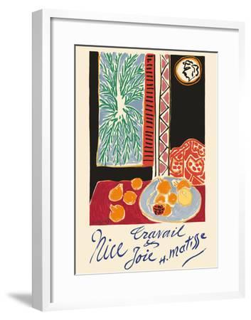 Nice, France - Travail et Joie (Work and Joy) - Still Life with Pomegranates-Henri Matisse-Framed Premium Giclee Print