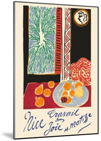Nice, France - Travail et Joie (Work and Joy) - Still Life with Pomegranates-Henri Matisse-Mounted Premium Giclee Print