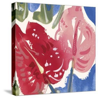 Flamingo Flower I-Alan Halliday-Stretched Canvas Print
