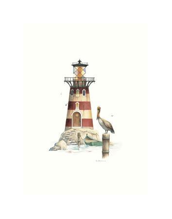 Pelican Point Light-Lisa Danielle-Framed Art Print