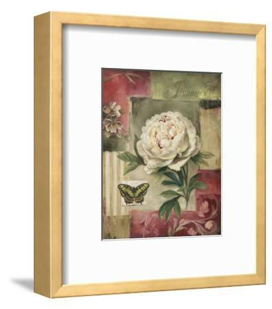 Peony and Butterfly-Lisa Audit-Framed Art Print