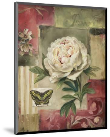 Peony and Butterfly-Lisa Audit-Mounted Art Print