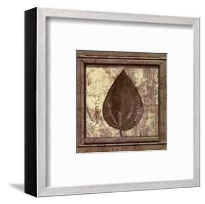 Classic Leaf Square IV-Pierre Fortin-Framed Art Print