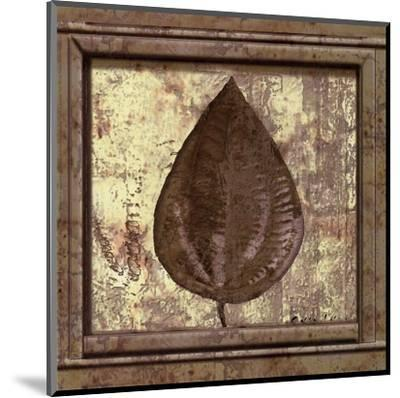 Classic Leaf Square IV-Pierre Fortin-Mounted Art Print