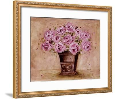 Classic Pink Roses-Antonette Bowman-Framed Art Print
