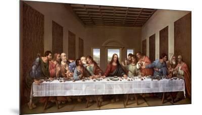 The Last Supper-Leonardo Da Vinci-Mounted Art Print