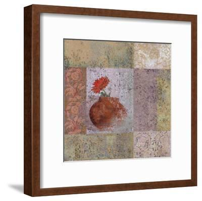 Fleur Orange I-Pierre Fortin-Framed Art Print