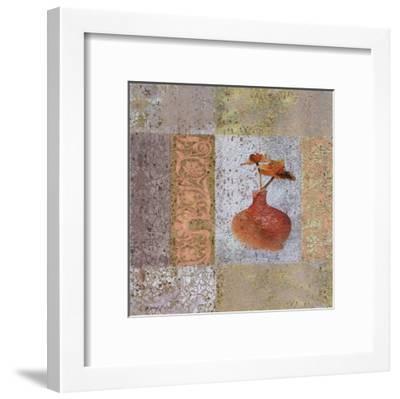 Fleur Orange II-Pierre Fortin-Framed Art Print