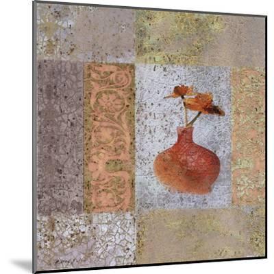 Fleur Orange II-Pierre Fortin-Mounted Art Print
