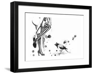 White Stripes-Lora Zombie-Framed Art Print
