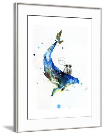 Whale-Lora Zombie-Framed Art Print