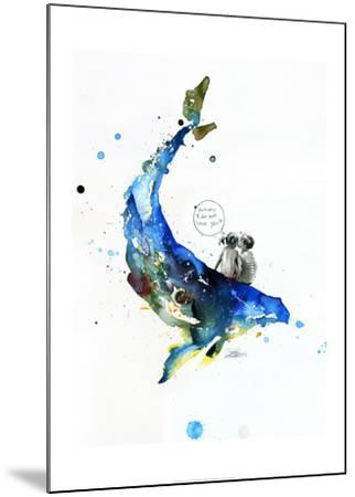 Whale-Lora Zombie-Mounted Art Print