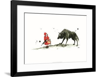 Red Riding Hood-Lora Zombie-Framed Art Print