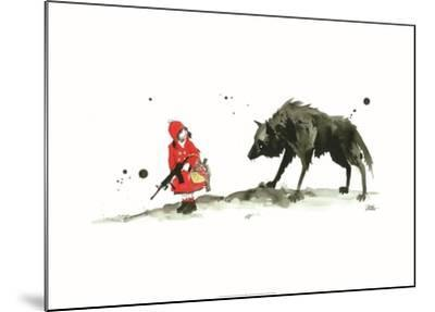 Red Riding Hood-Lora Zombie-Mounted Art Print