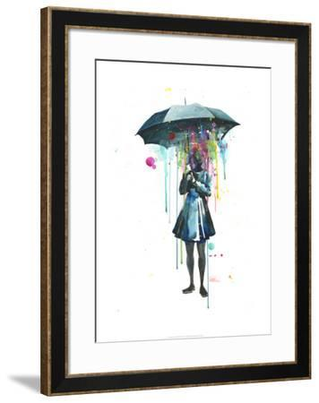 Rainy-Lora Zombie-Framed Art Print