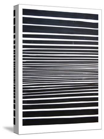 Black & White Stripes-Cara Francis-Stretched Canvas Print