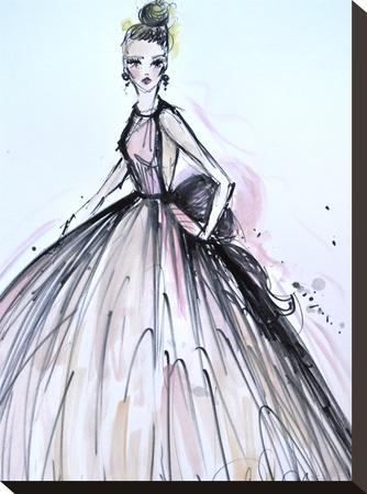 Pink Elegance-Cara Francis-Stretched Canvas Print