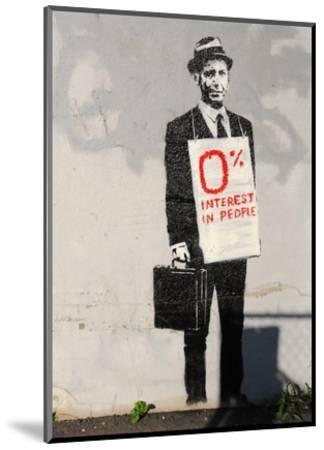 0% Interest-Banksy-Mounted Art Print